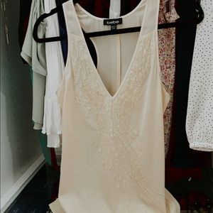 100% Silk embroidered top XXS